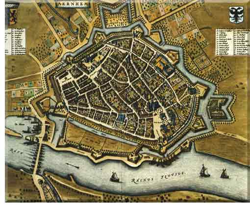 Old city map of Arnhem