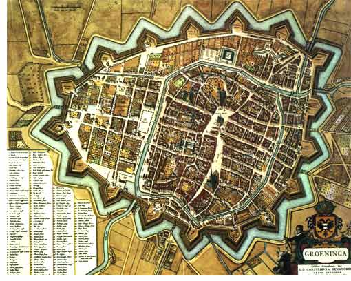 Old city map of Groningen