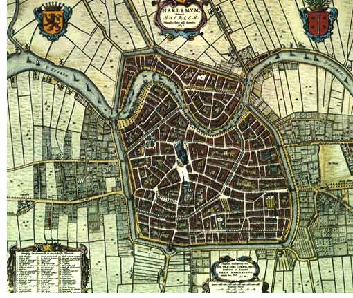Old city map of Haarlem