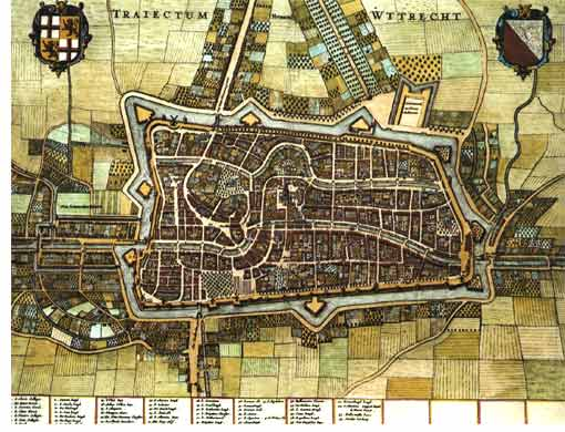 Old city map of Utrecht