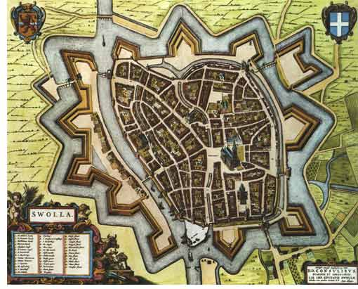 Old city map of Zwolle