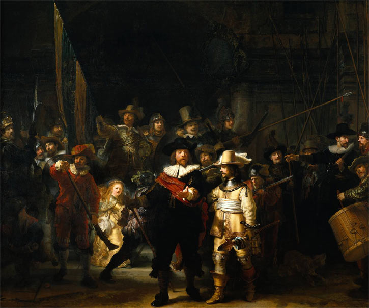 Nightwatch, painting by Rembrandt